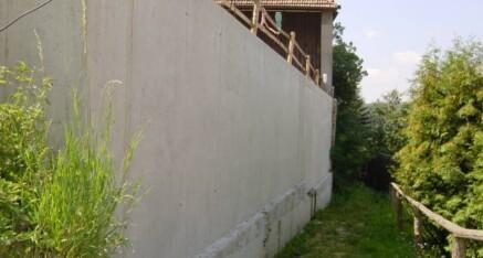 Nachher: Stützmauer Zemling