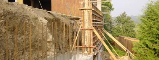 Vorher: Stützmauer Zemling