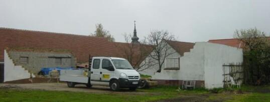 Vorher: Hallenbau Kleinmeiseldorf