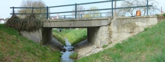 Vorher: Brückensanierung Zemling
