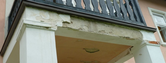 Vorher: Balkonabdichtung Olbersdorf
