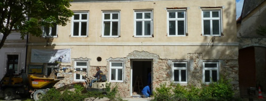 Vorher: Vollwärmeschutzfassade Ravelsbach