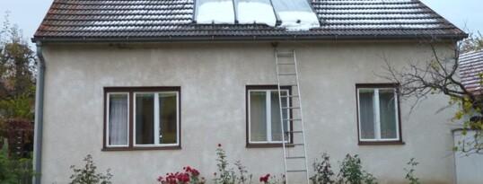 Vorher: Vollwärmeschutzfassade Mühlbach